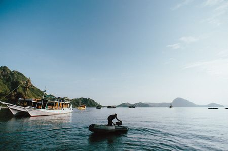 Trip to Komodo Island by boat
