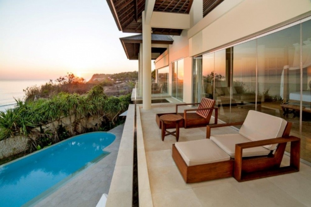 Beachfront villa Bali with outdoor swimming pool and more privacy